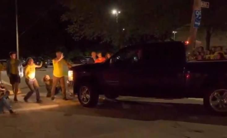 Guard Drives Truck Into ICE Protestors at Private Prison