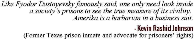 Amerika is a barbarian in a business suit. -Kevin Rashid Johnson